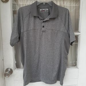 Ariat Tek Heat Series Gray Polo Shirt Sz S